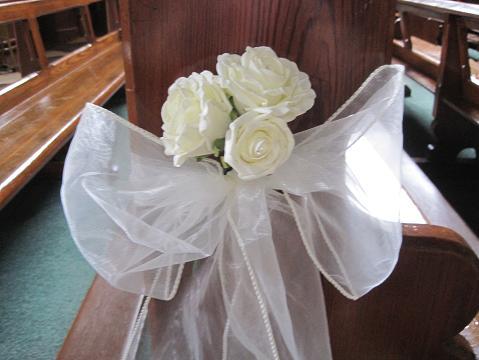 Tags bay trees irish church decoration pew ends silk bridal flowers