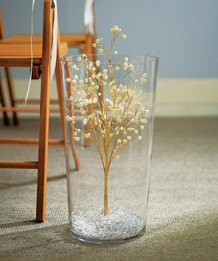 Pearl Vintage Gold Wire Ornamental Tree